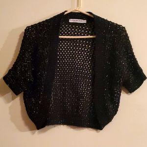 Cotton Emporium black sparkle cardigan